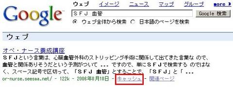 検索エンジンGoogleのキャッシュ機能
